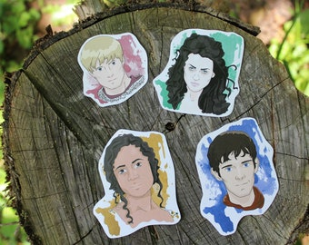 Merlin MAIN CHARACTERS Stickers