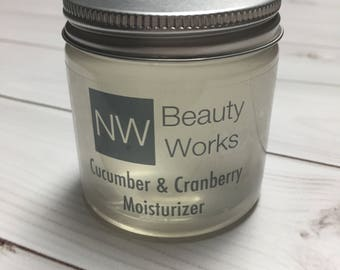 Never Greasy Daily Moisturizer | Cucumber & Cranberry Moisturizer | All over body moisturizer! | Sensitive Skin Safe | 4 OZ