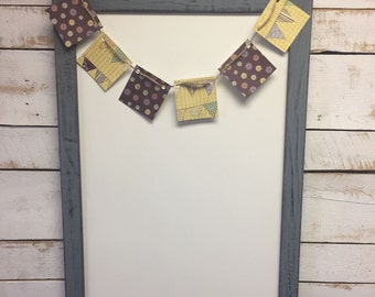 Rustic Dry Erase Board-Rustic Whiteboard-Dry Erase Board-Framed Whiteboard-Wood Dry Erase-Wood Whiteboard-Message Board-Memo Board-Office
