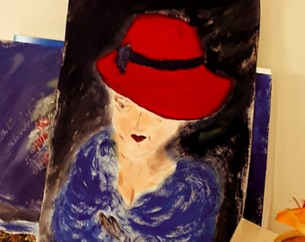 Lady in Red acrylic on canvas