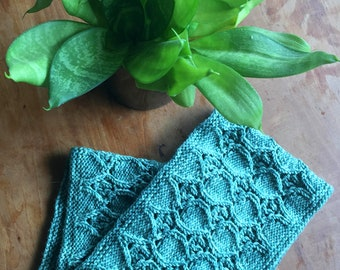 Textured Lace Knit Cowl