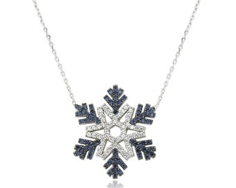 Silver Snowflake Necklace - IJ1-1238