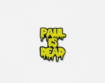 Paul Is Dead Soft Enamel Lapel Pin - Paul McCartney & The Beatles Inspired