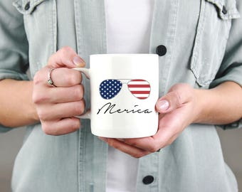 Merica mug, sublimated mugs, 4th of July mug, usa mug, coffee mug, coffee cup, fourth of July, american mug, patriotic mug