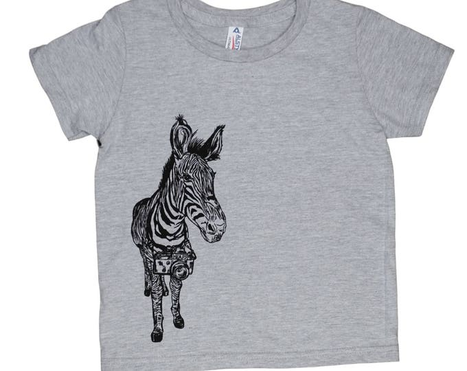 Girls T shirt - Boys TShirt - Zebra Tshirt - Toddler T shirt - Funny Kids Shirts - Funny Boys Tshirts - Printed Animal Tee - Tee for Girls