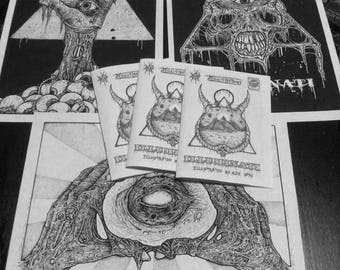 Zombie Illuminati prints and mini zine