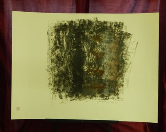 Vintage Original Adnan Charara Mixed Media Painting''One of a Kind/signed/1989
