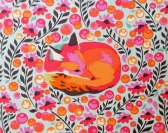 Fabric, Fox Nap in Sorbet Pink, Tula Pink Chipper, Last One Yard