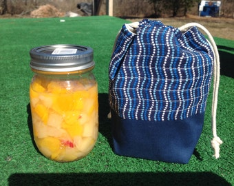Mason Jar lunch bag, Mason Jar Bag, Mason Jar Gift, NutriBullet Bag
