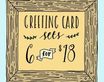 Greeting Card Set, Funny Set of Greeting Cards, Bulk Greeting Card Pack