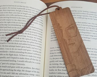 Star Wars Rey with Staff Bookmark with Tassel - Laser Engraved Wood