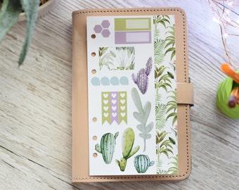 Watercolour Succulents Personal Weekly Kit; Filofax; Kikki K; Personal Planner; Checklist Stickers, TN Kit; Personal Kit