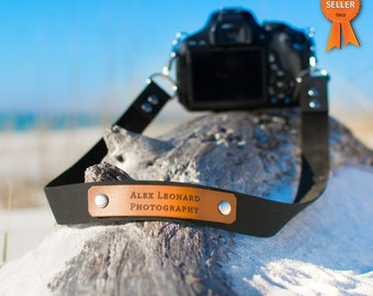 Custom Camera Strap, Leather Camera Strap, Personalized camera strap, Photography Strap, Nikon, Canon, Sony Camera Strap, mens gift, custom