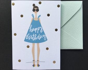 Happy Birthday Card - Letterpress Birthday Card