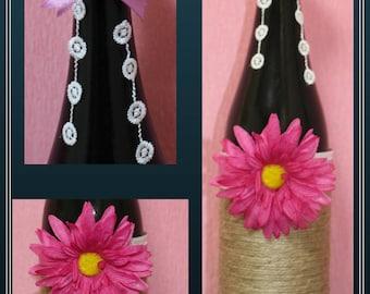 Decorative Bottle Flower Fuxia