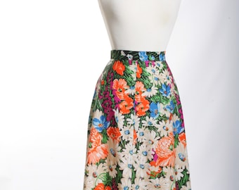 Amazing Field Of Flowers Vintage Skirt