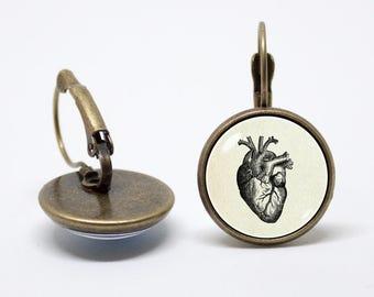 Anatomical human heart earrings Human heart jewelry Medical earrings Doctor jewellery Human anatomy Cardiologist Nurse gift Medicine Heart