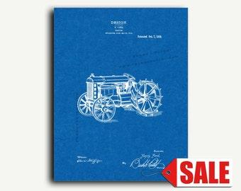 Patent Art - Tractor Patent Wall Art Print