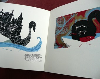 SALE Ern Malley Affair Screen Printed 16pp Editioned Artist Book / finished by hand