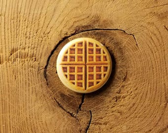 """Waffle  (1-1/4"""" Pinback Button or Magnet)"""