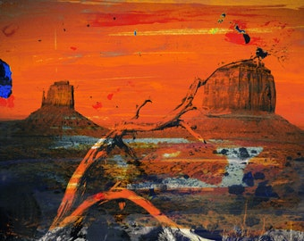 MONUMENT VALLEY I by Sven Pfrommer - 140x70cm Artwork is ready to hang.