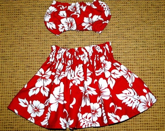 Hula Baby....... Bandeau & Skirt For Tiny Ones