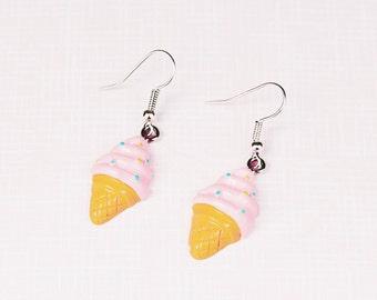 Ice cream earrings, ice lolly earrings. fun earrings, quirky earrings, gift for girls, gift for daughter, gift for friend, food lover gift