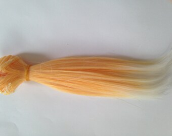 PREORDER Creamsicle Wefted Weft Doll Hair for ooak Custom Monster High Barbie Blythe Weft Wig BJD