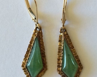 Vintage Yukon Jade Natural Gold Nugget Earrings Alaskan Gold Rush Alaska 10K 14K 22K Yellow Gold Dangle Earrings 22K Gold Nuggets