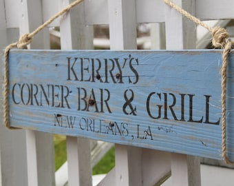 CUSTOM Bar Sign, Man Cave sign, or Housewarming sign, made from reclaimed wood