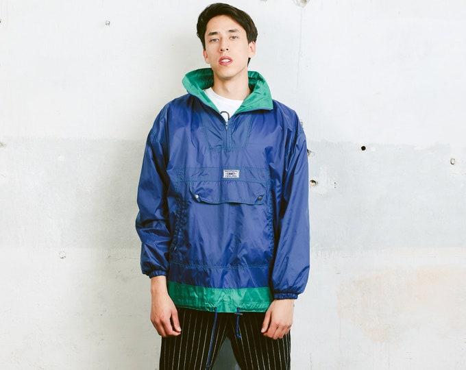 90s Anorak Windbreaker Jacket . Mens 90s Anorak Jacket Bold Windbreaker 90s Jacket Sports Rain Jacket 90s Clothing . size Medium M