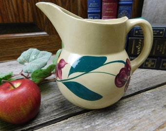 Vintage Oven Ware USA 15 Small Pottery Pitcher Creamer - Cherries
