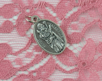 Saint Valentine Pray For Us Religious Medal - Patron of Lovers, Bee Keepers, Epilipsy and Fainting - Jewelry Supply