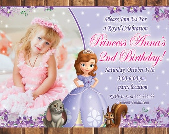 Sofia the first invitation etsy popular items for sofia the first invitation filmwisefo