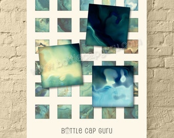 Silky OIL PAINT Art / 1x1 Inch Printable Square Images / Abstract 1 Inch Square Digital Collage Sheet for Crafts Pendants //Instant Download