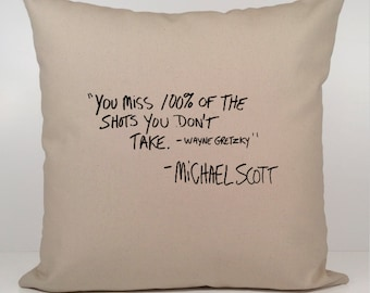 Michael Scott Quote Pillow Cover, The Office Pillow Cover, The Office TV Show Gift, Michael scott quote,  christmas gift, the office tv show
