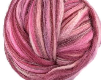 4 oz Merino wool roving multi-colour,19 microns,Make-up