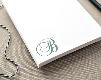Custom Monogrammed Notepad / Notepad with Initial / Personalized Notepad Gift / Personalized Pads of Paper with Custom Initial