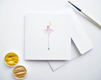 Handmade Illustrated Birthday Girl Card | Princess Card | happy girl card