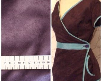 Very good quality soft Suede, purple