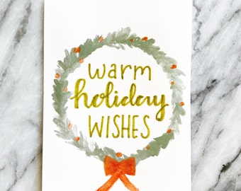 Warm Holiday Wishes, Holiday Card