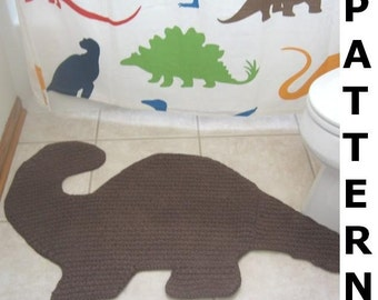 Dino Bath Mat Crochet Pattern