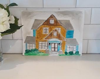 Custom Watercolor Home   House Portrait   Custom Home Decor   Personalized  Watercolor   Housewarming Gift