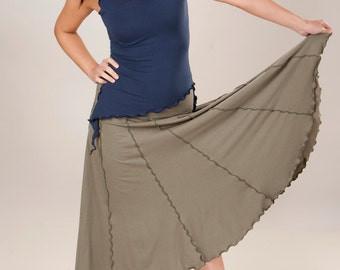 Pixie Circle Skirt - Custom Made Organic Clothing - Choose Your Color