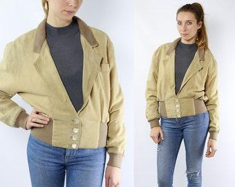 Vintage Suede Jacket Suede Bomber Jacket Suede Jacket Suede Bomber 80s Suede Jacket 80s Bomber Jacket Beige Suede Jacket Beige Jacket