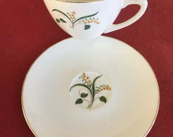 Vintage Edwin Knowles Forsythia china cup and saucer