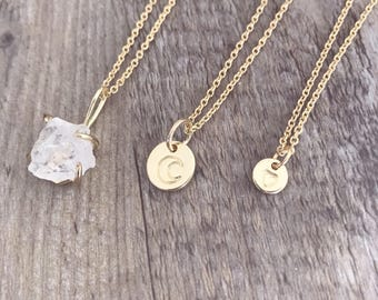 Crystal Necklace / raw Crystal / Crystal pendant