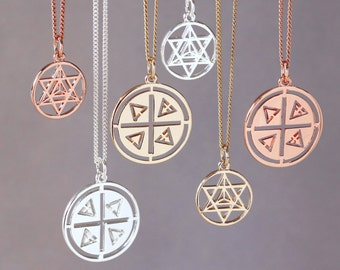 Sacred Geometry   Elemental Necklace   Nature Lovers Gift   Reign   Nature Inspired   Personalised Jewelry   Gifts for women 2017   Pendant