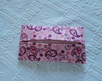 Pocket handkerchiefs for handbag fabrics pink Arabesque case red.