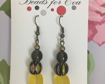 Autumn Carnival - handmade drop earrings